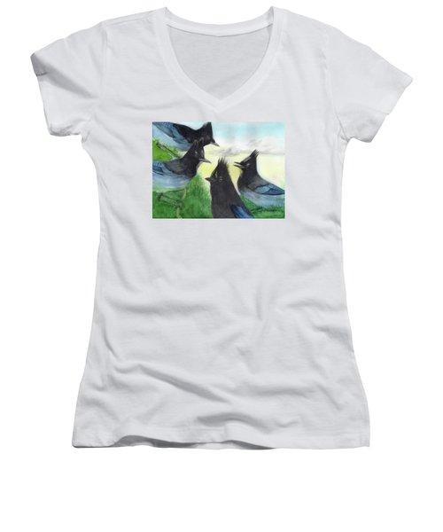 Dawn Chorus Women's V-Neck T-Shirt
