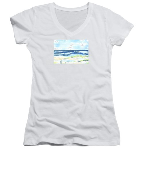 Day At The Beach Women's V-Neck (Athletic Fit)