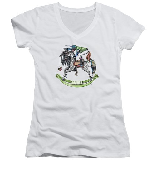 Day At The Races Women's V-Neck T-Shirt