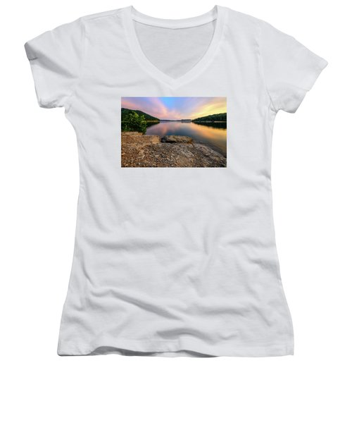 Day Light On The Bay Women's V-Neck