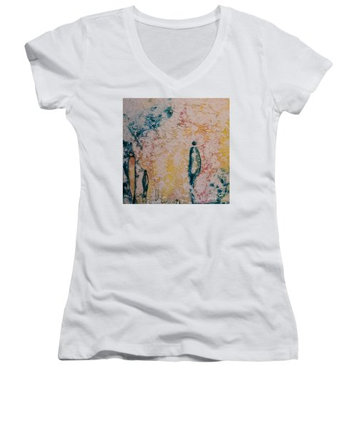 Day Out Women's V-Neck T-Shirt (Junior Cut) by Gallery Messina