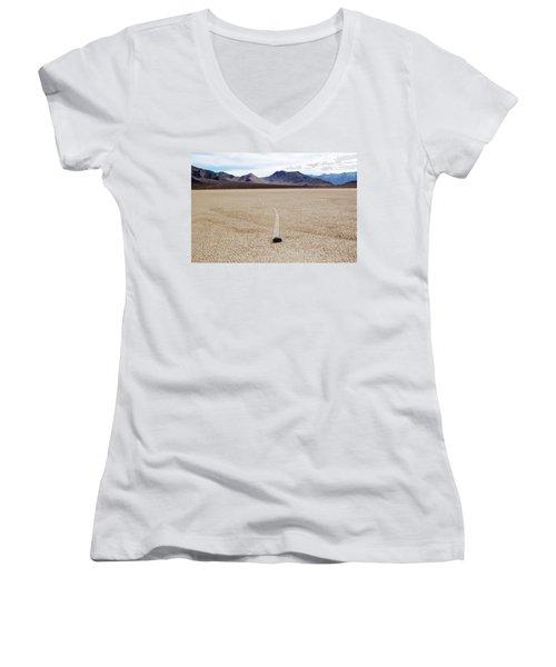 Death Valley Racetrack Women's V-Neck