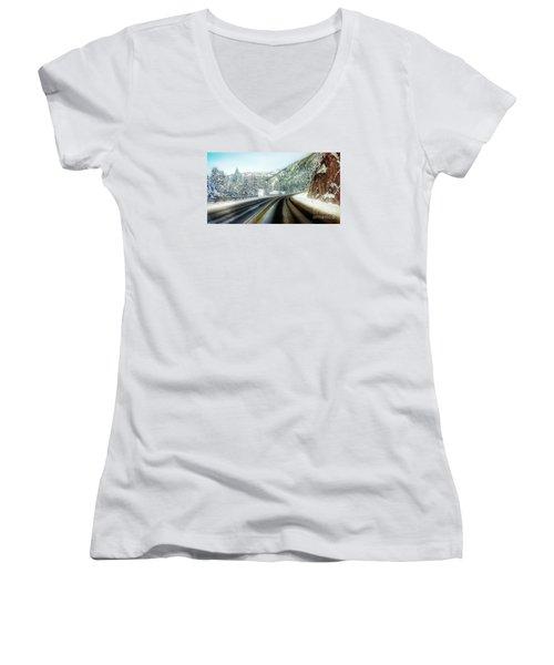 December Drive 4 Women's V-Neck T-Shirt