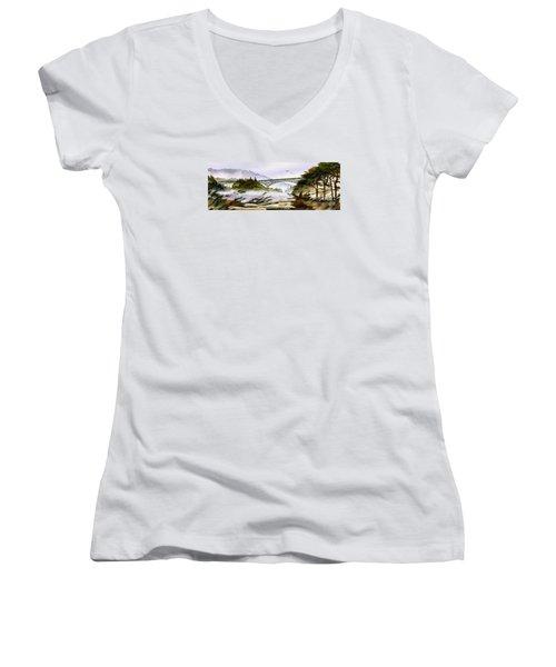 Deception Pass Bridge Women's V-Neck T-Shirt