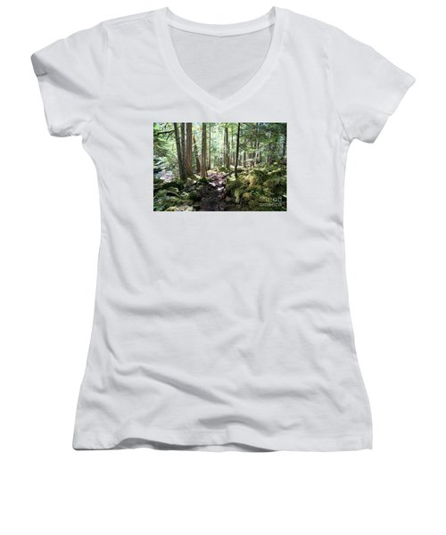 Deep In The Oregon Forest Women's V-Neck (Athletic Fit)