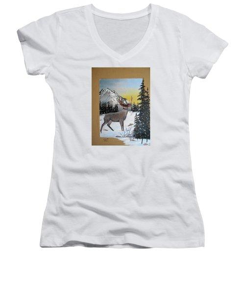 Deer Hunter's Dream Women's V-Neck T-Shirt