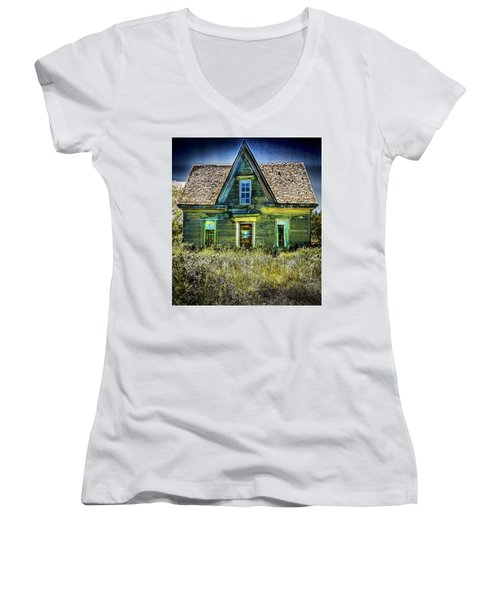 Deer Isle Haunted House Women's V-Neck