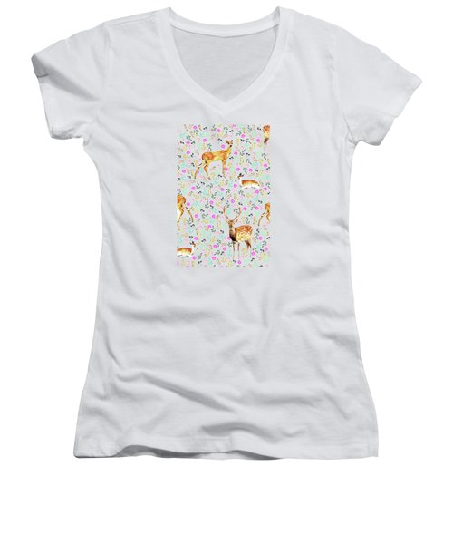 Deers Women's V-Neck T-Shirt