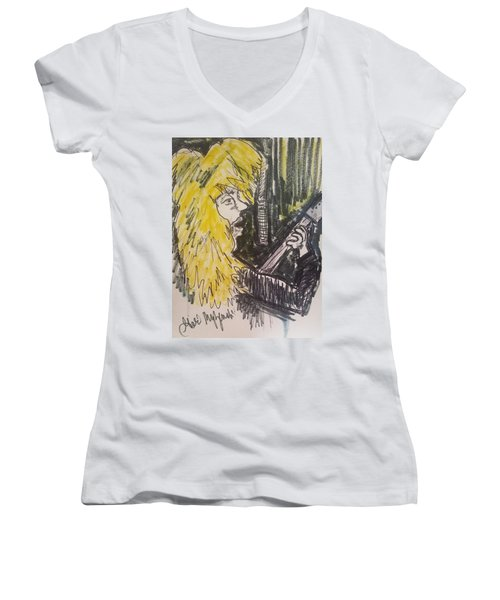 Def Leppard Love Bites Women's V-Neck T-Shirt