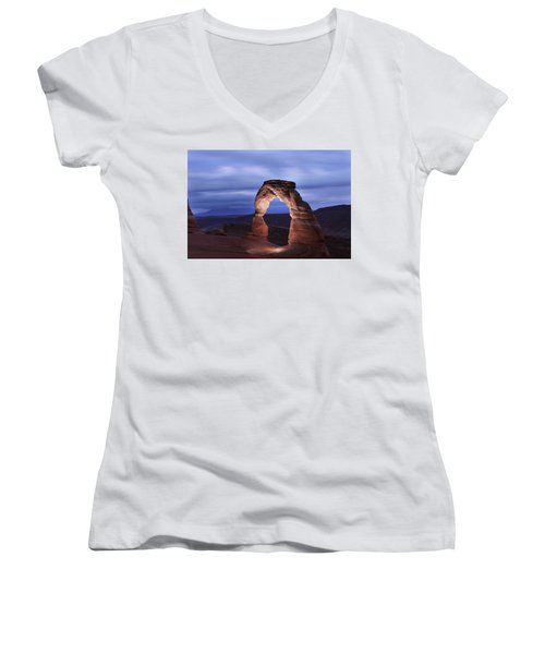 Delicate Arch At Twilight Women's V-Neck