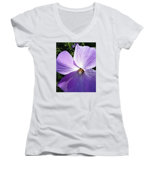 Delicate Flower Women's V-Neck T-Shirt (Junior Cut)