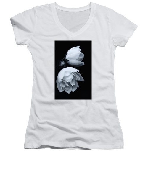 Delicate White Surprise Women's V-Neck T-Shirt