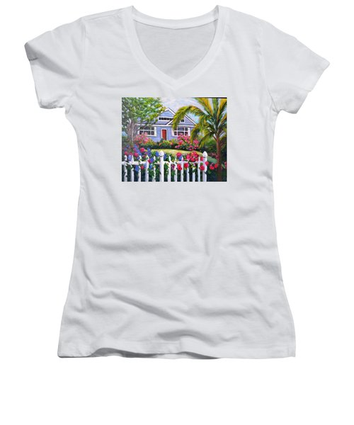 Delray Beach Women's V-Neck T-Shirt