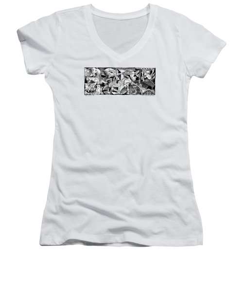 Democrat Guernica Women's V-Neck