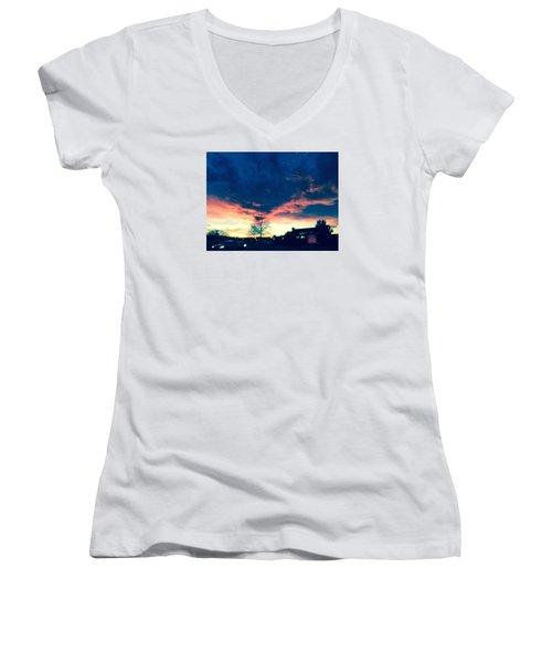 Dense Sunset Women's V-Neck T-Shirt
