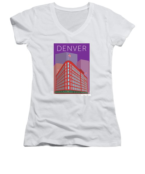 Denver Brown Palace/purple Women's V-Neck (Athletic Fit)