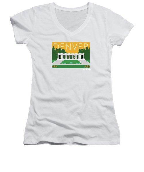 Denver Cheesman Park/gold Women's V-Neck