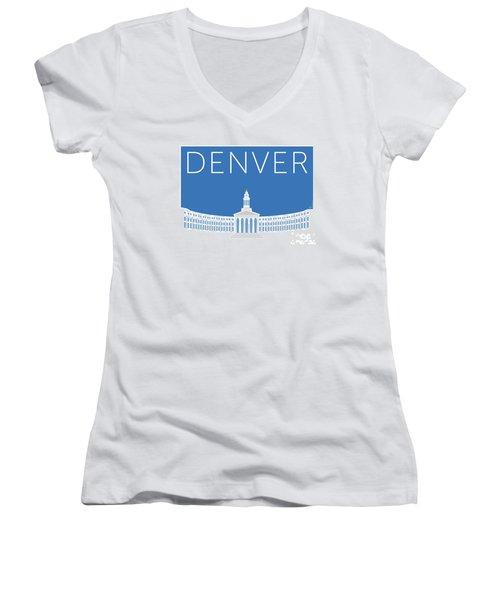Denver City And County Bldg/blue Women's V-Neck