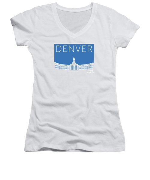 Denver City And County Bldg/blue Women's V-Neck (Athletic Fit)