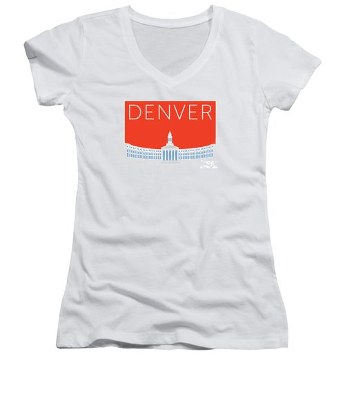 Denver City And County Bldg/orange Women's V-Neck (Athletic Fit)