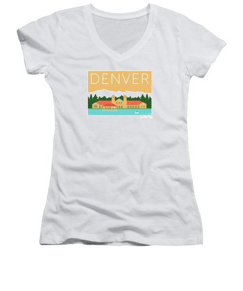 Denver City Park/adobe Women's V-Neck (Athletic Fit)