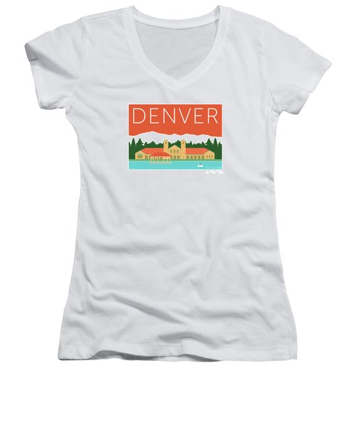 Denver City Park/coral Women's V-Neck
