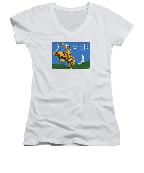 Denver Cowboy/dark Blue Women's V-Neck