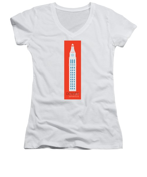 Denver D And F Tower/tall Women's V-Neck (Athletic Fit)