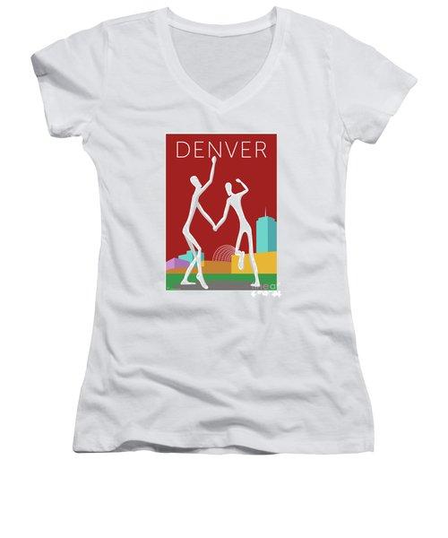 Denver Dancers/maroon Women's V-Neck