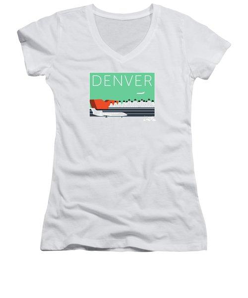 Denver Dia/aqua Women's V-Neck