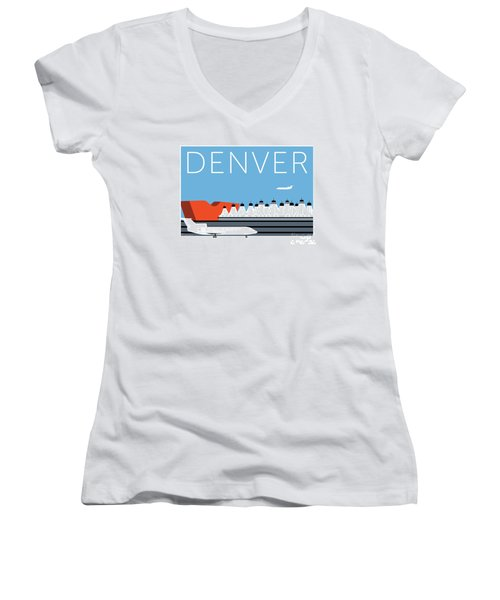 Denver Dia/blue Women's V-Neck