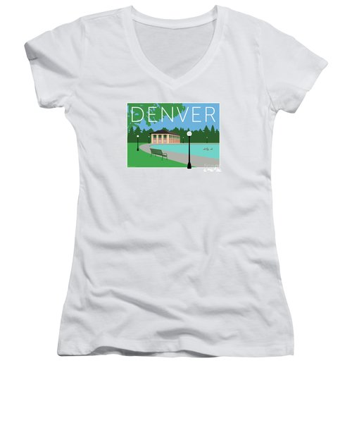 Denver Washington Park/blue Women's V-Neck (Athletic Fit)