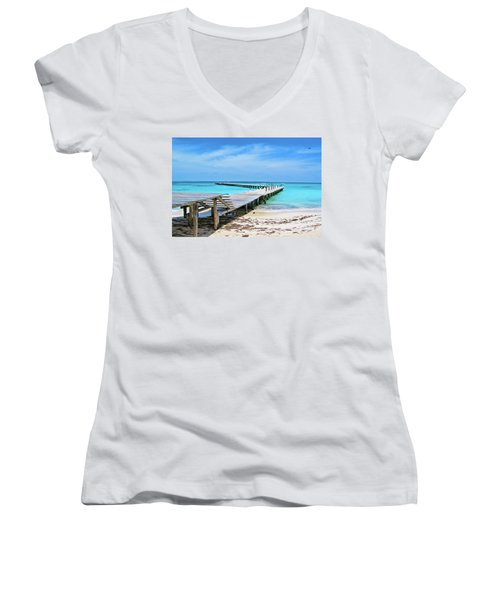 Departure Point Soft Women's V-Neck T-Shirt
