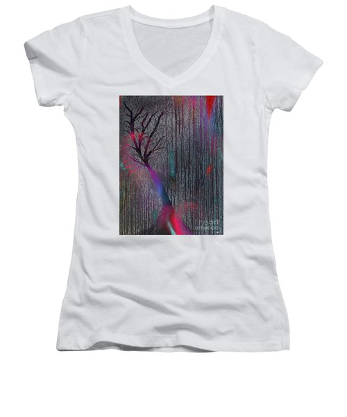 Depth Of Dreams Women's V-Neck (Athletic Fit)