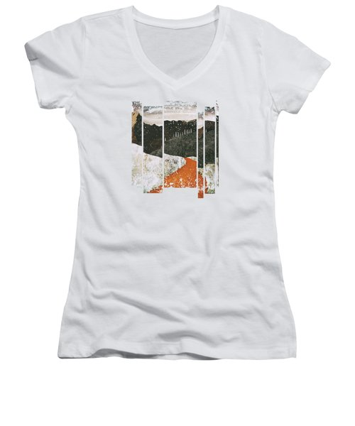 Desert Snow Women's V-Neck T-Shirt (Junior Cut) by Katherine Smit