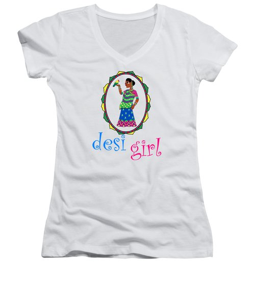 Desi Girl Women's V-Neck (Athletic Fit)