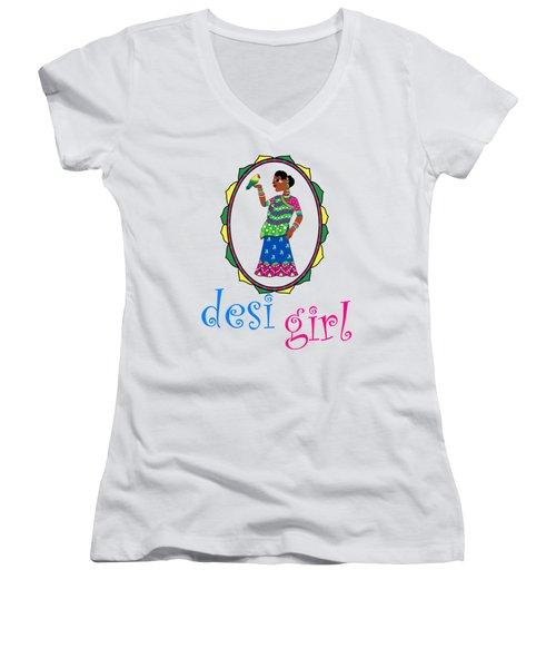 Desi Girl Women's V-Neck (Athletic Fit)
