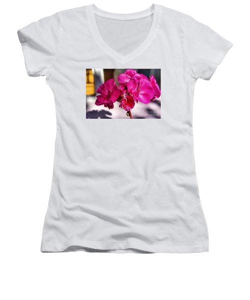 Details In Pink  Women's V-Neck T-Shirt