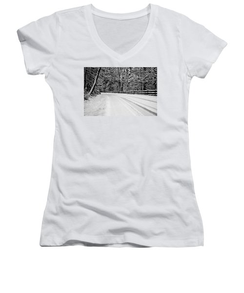 Dicksons Mill Road Women's V-Neck T-Shirt