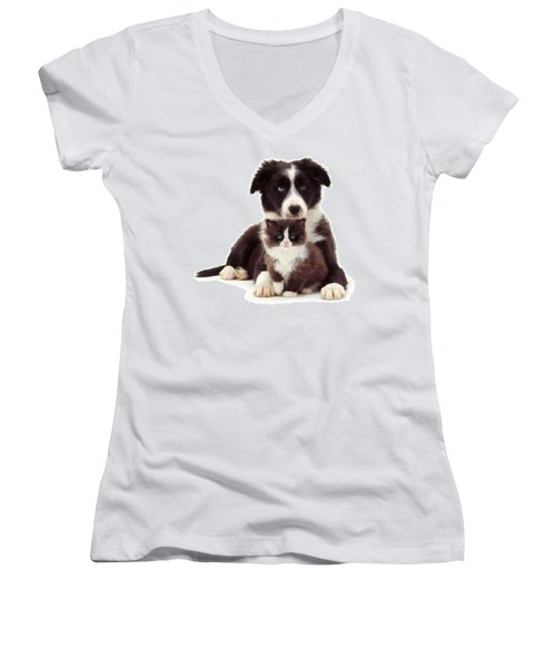 Different Strokes - Same Love Women's V-Neck (Athletic Fit)