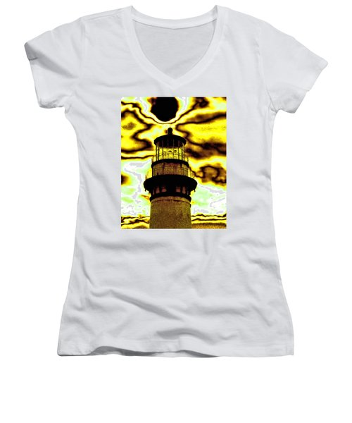 Dimensional Transfer Station Women's V-Neck T-Shirt