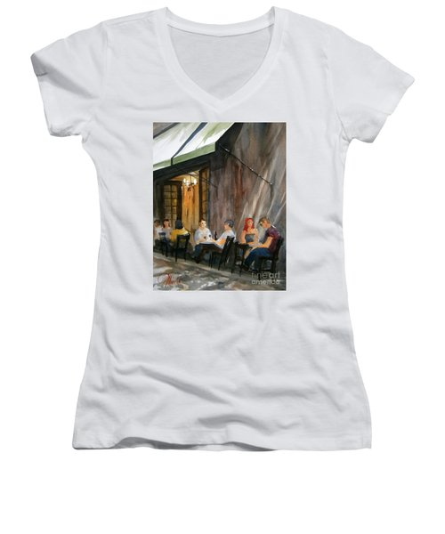 Dinning L'fresco Women's V-Neck T-Shirt