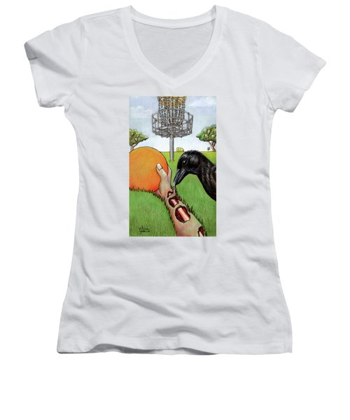 Disc Golf Nightmare Women's V-Neck (Athletic Fit)
