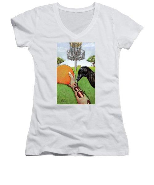Disc Golf Nightmare Women's V-Neck