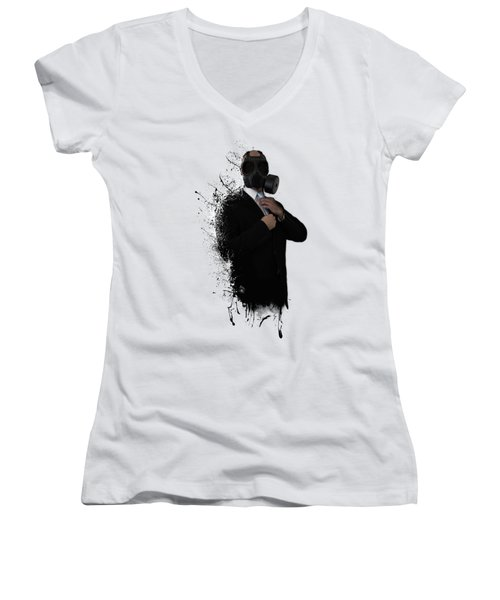 Dissolution Of Man Women's V-Neck