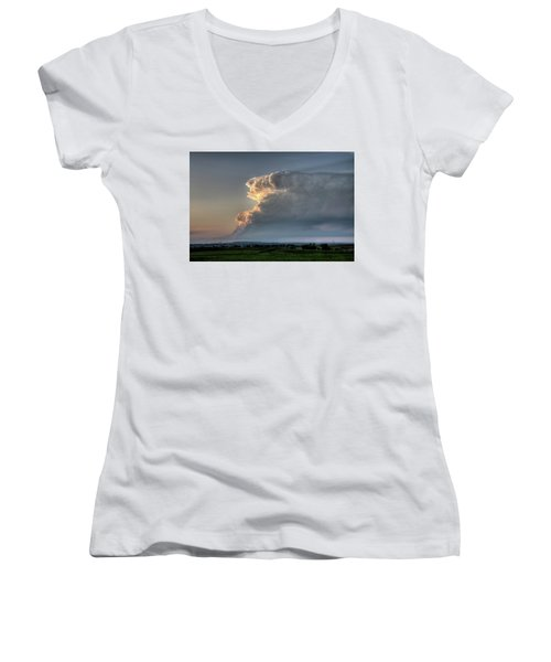 Distant Thunderstorm Women's V-Neck (Athletic Fit)