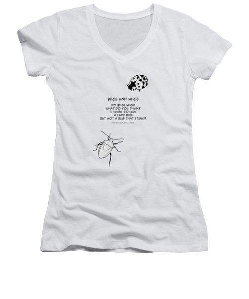 Do Bugs Hug Women's V-Neck T-Shirt