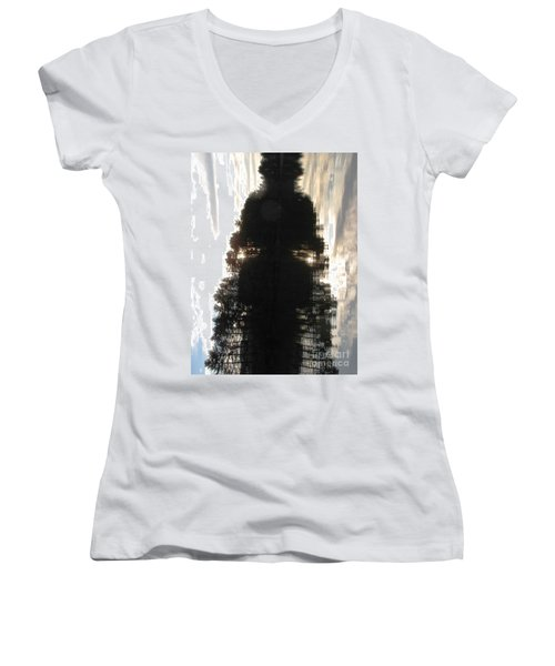 Do You See? Women's V-Neck T-Shirt (Junior Cut) by Melissa Stoudt