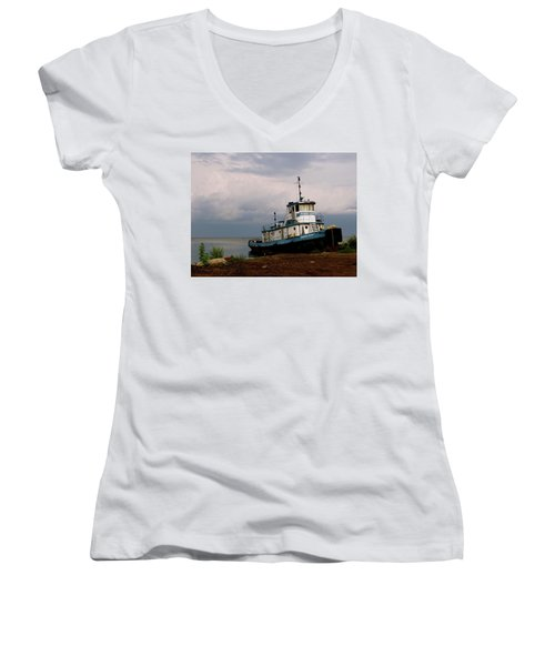 Docked On The Shore Women's V-Neck (Athletic Fit)