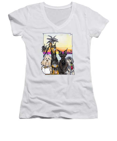 Dog Island Getaway Women's V-Neck